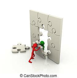 Puzzle team work concept
