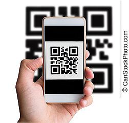 QR code payment transaction using mobile smartphone