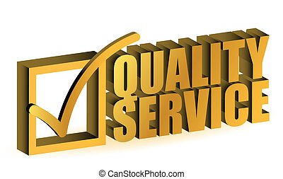 golden Quality Service Certificate sign symbol on white background