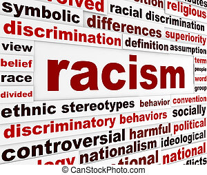 Racism humanity warning message