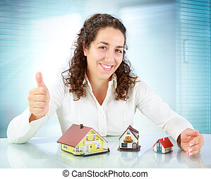 real estate agent offers apartments