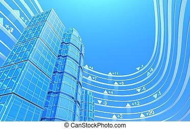Real estate exchange, concept