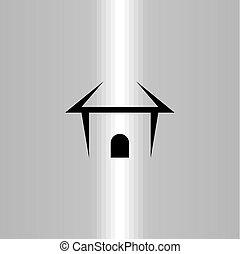 real estate house black icon logo symbol vector element