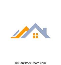 real estate house logo, home symbol icon vector design