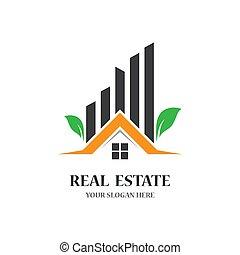 Real estate logo template  vector icon