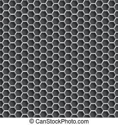 Realistic hexagonal grid backgroun