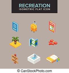 Recreation isometric icon