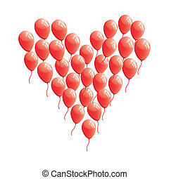 Red abstract heart balloon