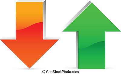 red and green up and down arrow