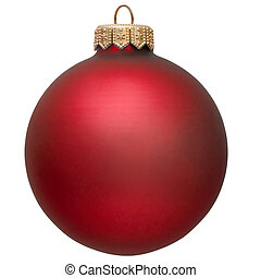 red christmas ornament .