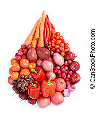 red healthy food
