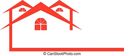 Red House Logo with Peaks