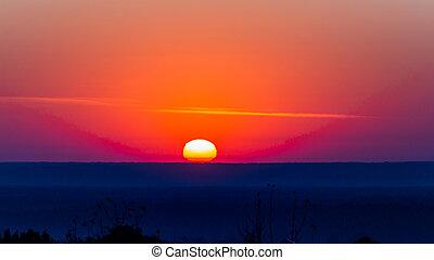 Red sunrise background