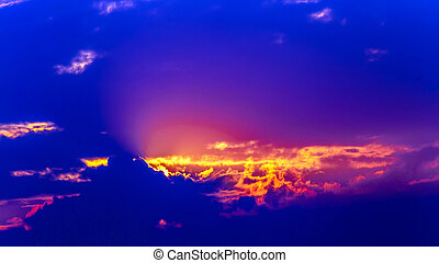 Red sunrise landscape