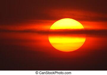 sunrise in summer, germany