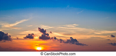 red sunset sky background