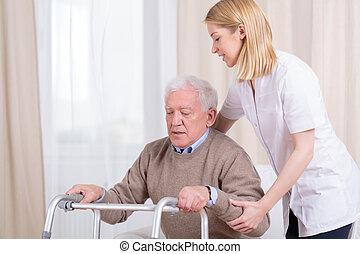 Rehabilitation in nursing home