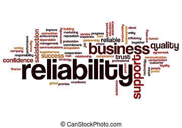 Reliability word cloud concept