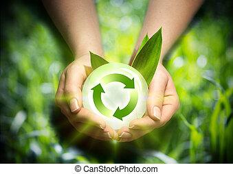 renewable energy in the hands