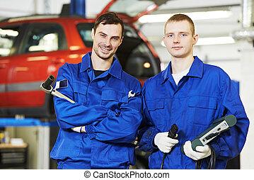 repairman auto mechanic workers