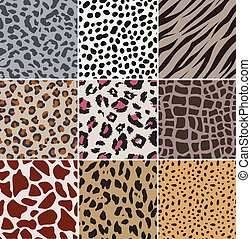 repeated animal skin print
