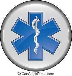 Rescue Paramedic Medical Button