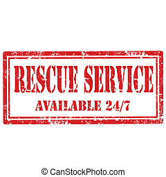 Grunge rubber stamp with text Rescue Service, vector illustration