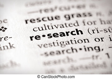 """Selective focus on the word """"research"""". Many more word photos in my portfolio..."""
