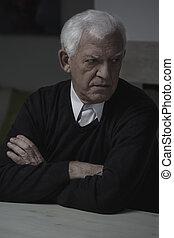 Retired man alone