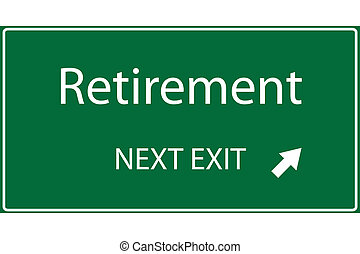Illustration of a green Retirement sign