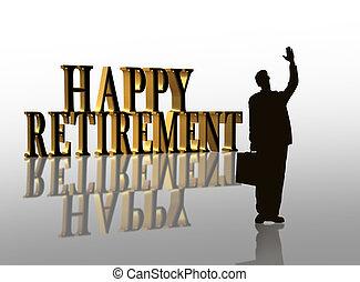 3D illustration for Retirement party