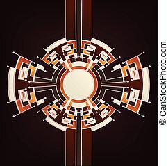 Retro Art Deco stylized beckground.