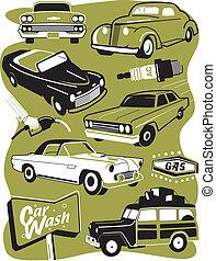 Retro Auto Clip Art