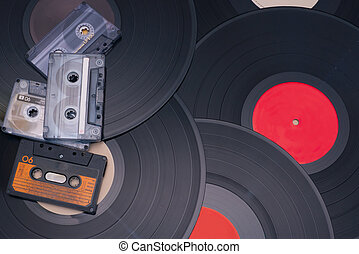 Retro Party - Audio Cassette Tapes and Vinyl Records