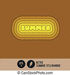 Retro Summer Title Banner