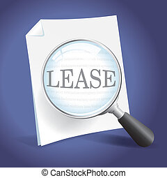 Examining a Lease Agreement with a Magnifying Glass