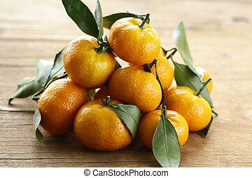 tangerine, orange mandarin