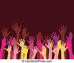 rising hands
