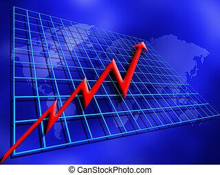Conceptual image depicting rising profits