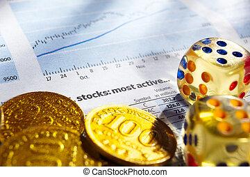 Risk on stock exchange