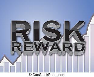 3D Risk and Reward Financial Concept Illustration