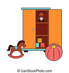 rocking horse ball and furniture kid toys
