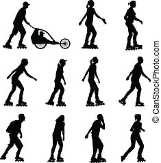 rollerskating silhouettes