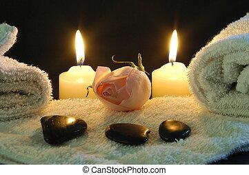 romantic spa night at home.