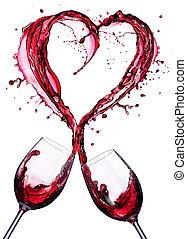 Romantic Toast Of Wine Red