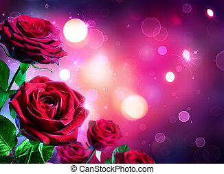 Roses For Valentines Day - Heart