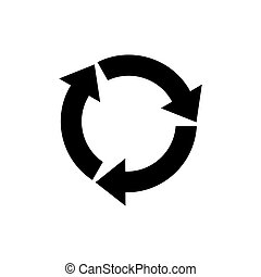 Rotation icon vector. Rotation or reload symbol