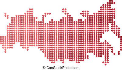 Russia Dot Map
