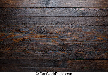 Rustic wooden table background top view