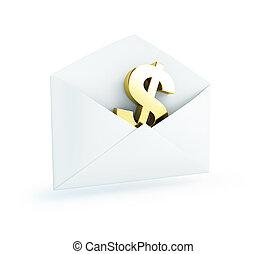 Salary mail dollar